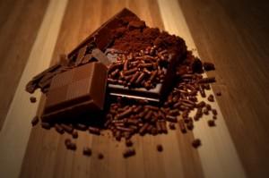 Schokoladen Haufen auf dem Tisch